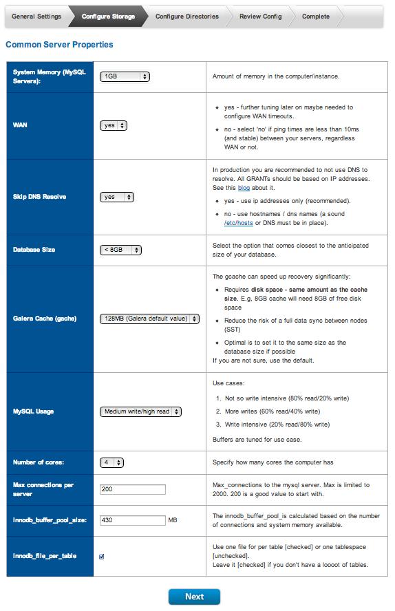 Galera MySQL Config Page 3